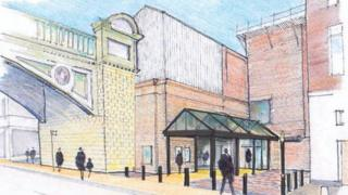 An artist's impression of Worcester Foregate Street railway station