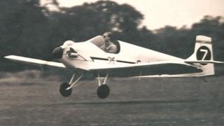 Prince Philip takes off in the plane