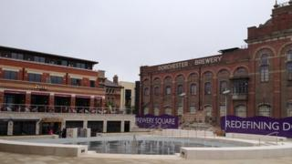 Brewery Square's main square
