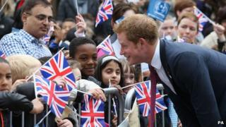 Prince Harry in Nottingham