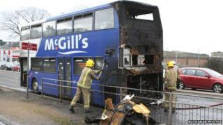 Fire on McGill's bus