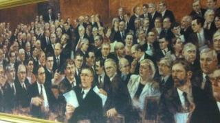 The artist Noel Murphy who painted the portrait of the first assembly, which was unveiled in 2003