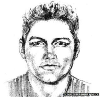 Artist impression of attempted rape suspect in Cheltenham