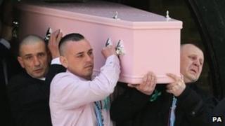 Jade Anderson's funeral