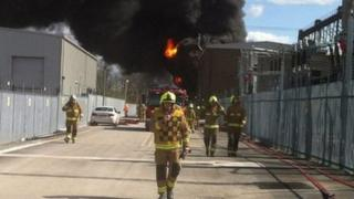 Fire fighters tackle blaze