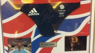Tom Daley's Team GB swimming trunks