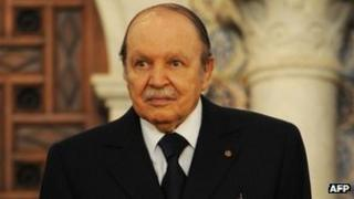 Algerian President Abdelaziz Bouteflika (file image from 15 April 2013)