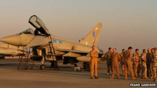 RAF Typhoons at Al-Minhad airbase, south of Dubai