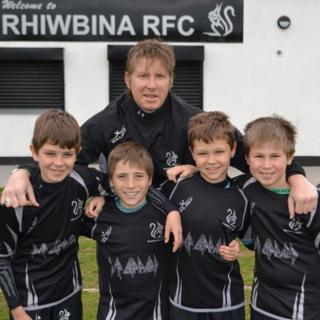 Richard Proctor is one of the coaches of the Rhiwbina under-10s