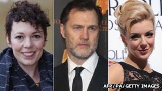 Olivia Colman, David Morrissey and Sheridan Smith