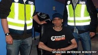 Spanish Interior Ministry picture of 'SK'