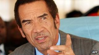 File photo of Ian Khama (26 March 2013)
