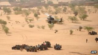 French soldiers in action in northern Mali, 17 February 2013