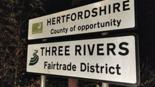 Hertfordshire sign - County of opportunity