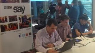 David Shukman taking part in the Google hangout