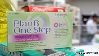 A package of Plan B contraceptive is displayed in San Anselmo, California on 5 April 2013