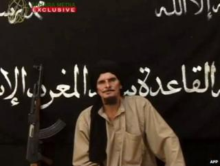 Gilles Le Guen in an Islamist video said to have been made on 8 October 2012 (still from video)