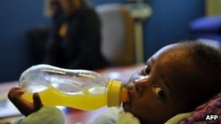 Baby born to HIV+ mother