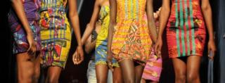 African models in short dresses - AFP archive