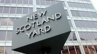 The exterior of Scotland Yard in central London