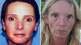 Brenda Heist before her disappearance and after.