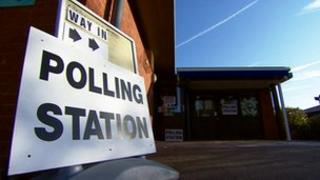Polling station in Redditch and Beoley