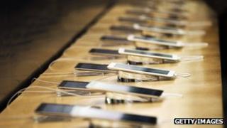 iPads on display