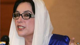 Benazir Bhutto in Dubai, October 2007