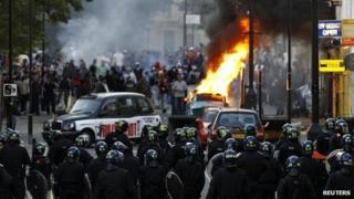 The riots in Hackney in August 2011