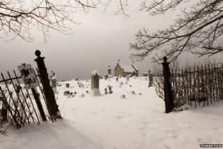 Churchyard in winter