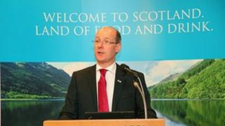 John Swinney pictured at food and drink reception in Tokyo in 2012