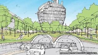Artist's impression of Hammersmith Flyunder