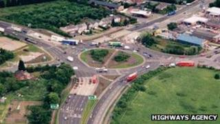 Tollbar End roundabout, Coventry