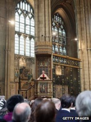 Most Reverend Justin Welby, the Archbishop of Canterbury, delivers an Easter Sunday sermon
