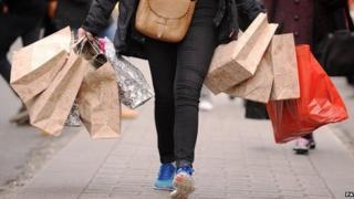 shopper on Oxford Street, London