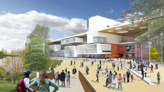Artist's impression of University Campus, Northampton