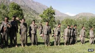 PKK rebels in the Qandil mountains in northern Iraq