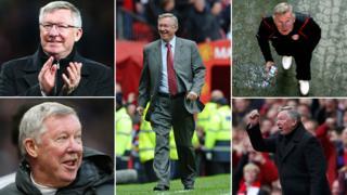 Various shots of Alex Ferguson