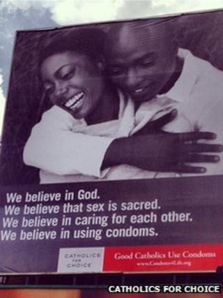 Catholics for Choice condom advert