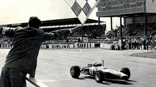 Jim Clark winning at Silverstone in 1967