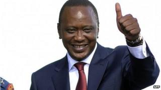 Uhuru Kenyatta on 9 April 2013