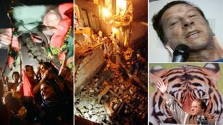 A PPP rally, bomb damage in Karachi, Imran Khan in hospital and Nawaz Sharif