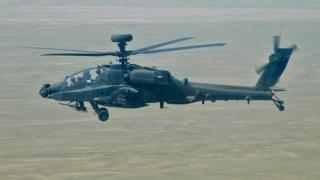 Apache helicopter in Afghanistan