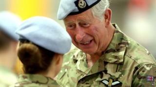Prince Charles presents campaign medals at Wattisham