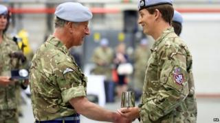 Prince Charles and Major Simon Beattie