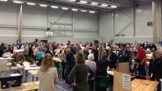 Election count at Shrewsbury Sports Village