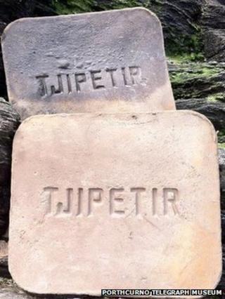 Gutta percha blocks (Pic: Porthcurno Telegraph Museum)