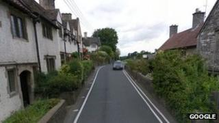 B3130 in Barrow Gurney