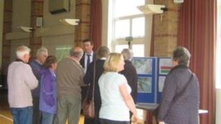 People at Ansford Bridge public meeting