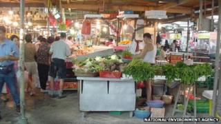 An old photo of Tiong Bahru hawker centre before its renovation